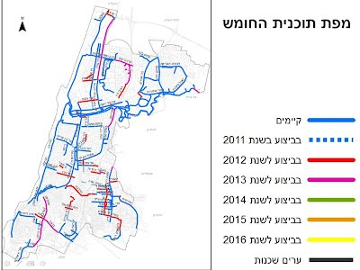 tlv bicycle tracks planned 2013