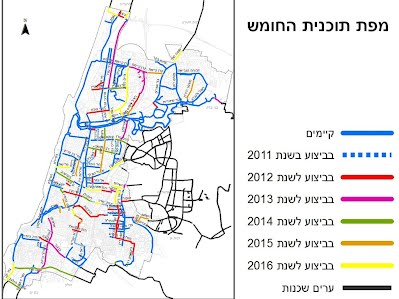 tlv bicycle tracks plan connections to neighbour cities