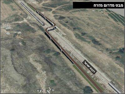 הדמיית הגשר המתוכנן מעל פסי הרכבת