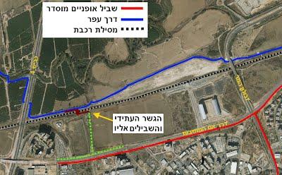 המיקום המתוכנן של הגשר החדש