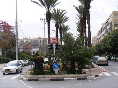 רחוב מלכי ישראל לפני ששביל האופניים נסלל