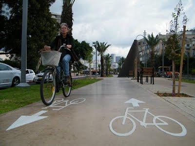 שביל אופניים שדרות בן גוריון תל אביב