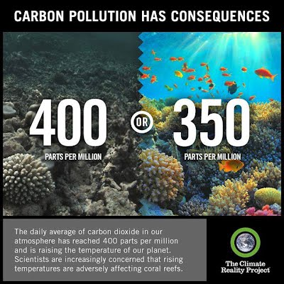corals global warming acidification 350ppm 400ppm