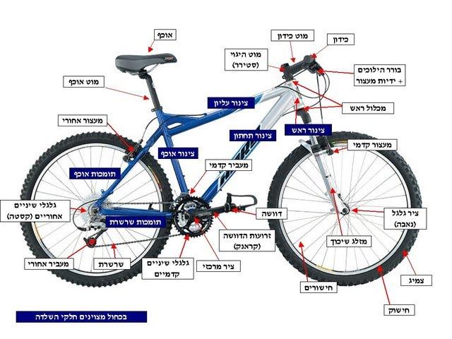bicycle parts Hebrew